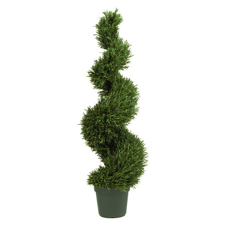 Nearly Natural 4 ft. Rosemary Spiral Silk Tree