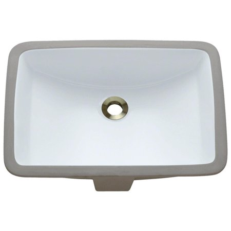 MR Direct u1913 Rectangular Porcelain Undermount Bathroom Sink