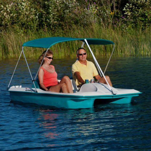 Sun Dolphin Aqua Sun Slider Paddle Boat with Canopy