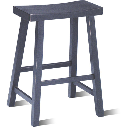 "Saddle Seat Stool 24"", Multiple Finishes"