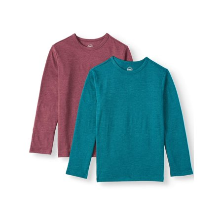 Wonder Nation Long Sleeve Solid T-Shirt (Little Boys, Big Boys, & Husky)