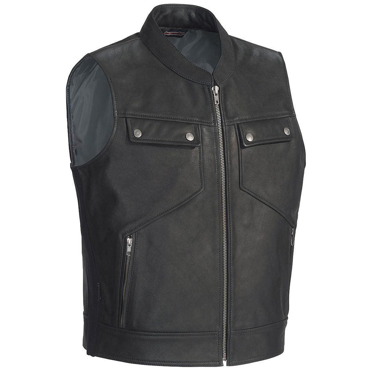 Tourmaster Nomad Mens Black Leather Vest