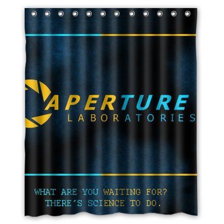 Ganma Aperture Science Laboratories Shower Curtain Polyester Fabric Bathroom 60x72 Inches