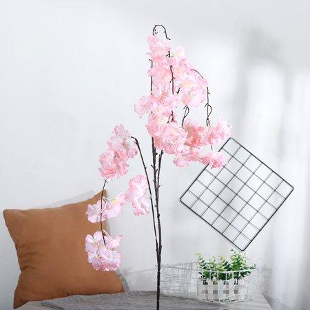Cherry Blossom Bouquets (Artificial Silk Fake Flowers Cherry Blossom Floral Wedding Bouquet Party Decor)