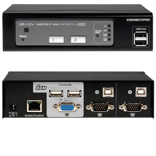 Connectpro UR-12+KIT 2port Usb Kvm Switch Vga Perp With Ddm & Active Ddc