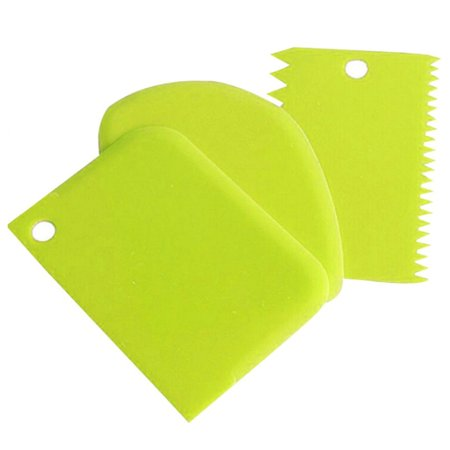 AkoaDa 3Pcs\/Pack Christmas Plastic Dough Icing Fondant Scraper Cake Decorating Pastry Baking Tools Kitchen Smoother Cutter Tools High Quality ()