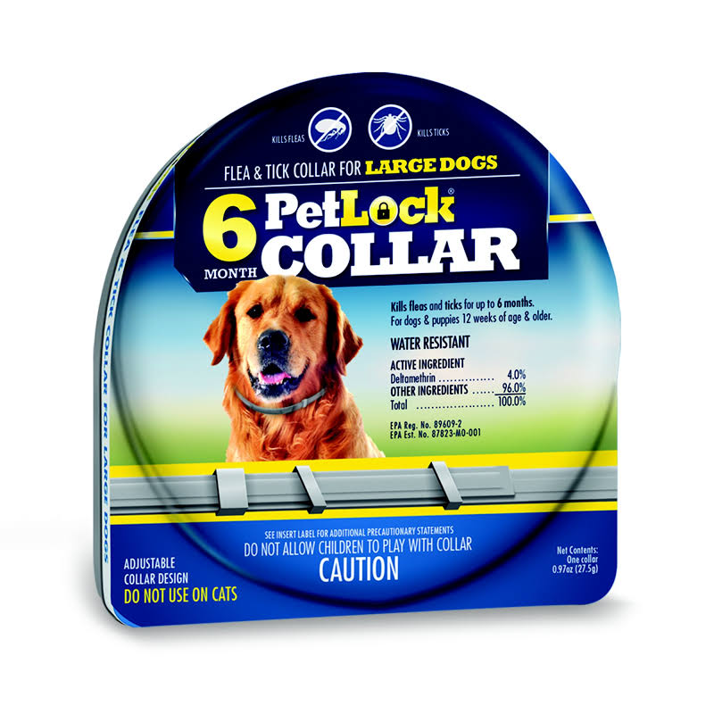 PetLock Six Month Collar for Fleas and Ticks, Large Dogs