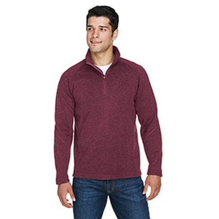 b62611942b566 Devon   Jones Adult Bristol Sweater Fleece Quarter-Zip - BURGUNDY ...