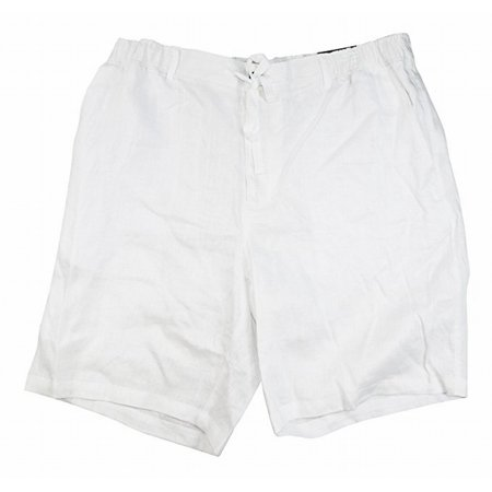 Tasso Elba NEW White Mens Size Medium M Drawstring Linen Stretch Shorts