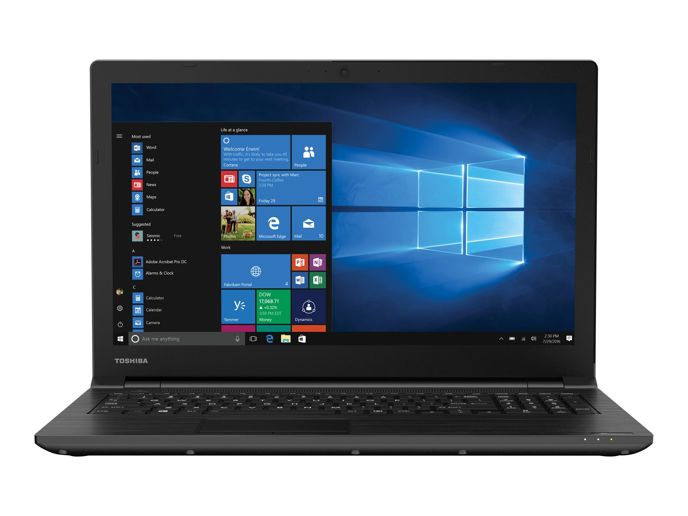 "Toshiba Tecra C50-D-020 Core i7 7500U   2.7 GHz Windows 10 Home 8 GB RAM 1 TB HDD 15.6"" 1366 x 768 (HD)... by Toshiba"