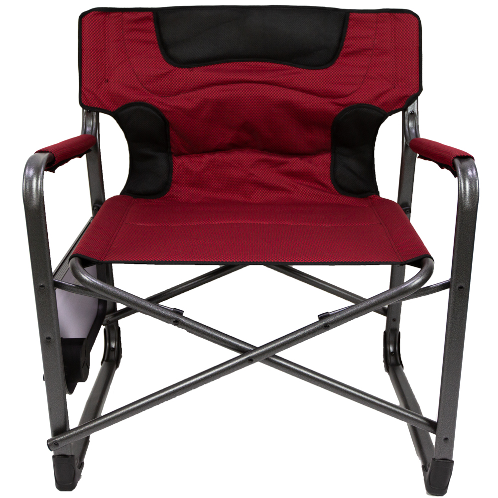 Admirable Ozark Trail Xxl Folding Padded Director Chair With Side Table Red 500 Lb Capacity Walmart Com Andrewgaddart Wooden Chair Designs For Living Room Andrewgaddartcom