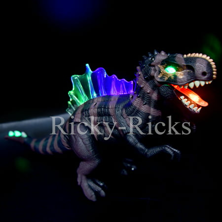 Walking Dinosaur Spinosaurus Kids Light Up Toy Figure Sounds Real Movement LED Roaring Gift 2018 Dinosaurio (Color May Vary, simple assembly required)](Toy Dinosaur)