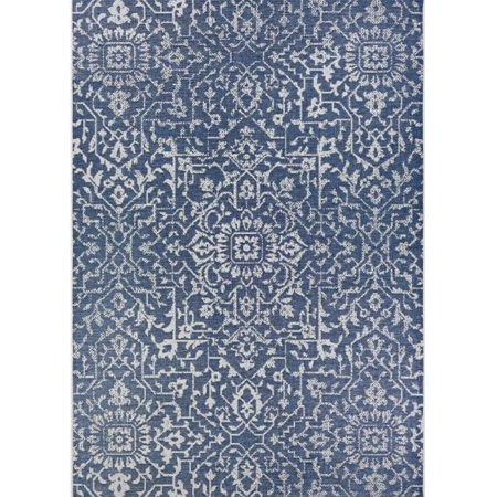 Couristan 23296427023119U 2 ft. 3 in. x 11 ft. 9 in. Monte Carlo Palmette Power Loomed Rectangle Area Rug - Navy & Ivory - image 1 of 1