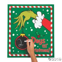 Dr. Seuss The Grinch Christmas Countdown Chalkboard Sign