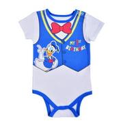 Disney Baby Boy's Donald Duck Short Sleeve 1st Birthday Bodysuit Onesie