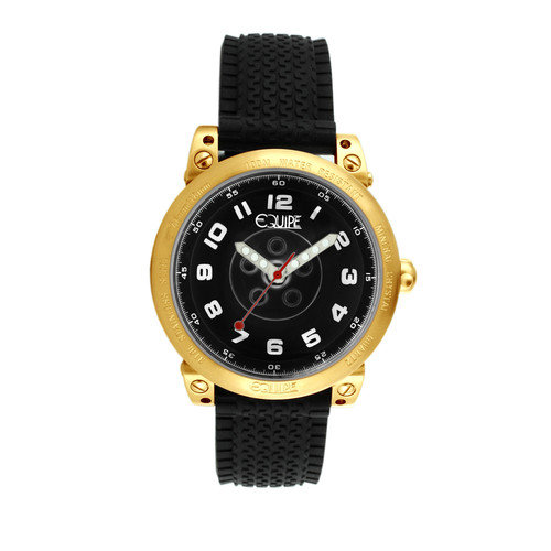 Equipe Hub Men's Watch with Gold Case and Black Dial