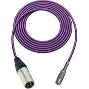 Sescom SC1.5XMJPE Audio Cable Canare Star-Quad 3-Pin XLR Male to 3.5mm TS Female Purple - 1.5 Foot