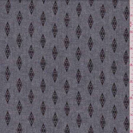 Heather Black Diamond Chambray, Fabric By the Yard