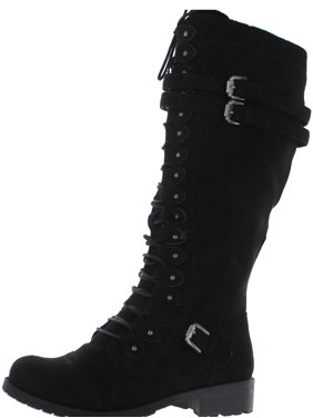 1e10dcd77adf Product Image Wild Diva Timberly-65 Lace up Knee Boots