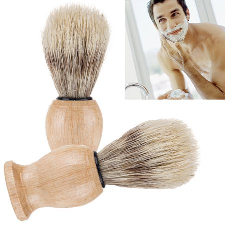 Outtop Men Shaving Bear Brush Best Badger Hair Shave Wood Handle Razor Barber