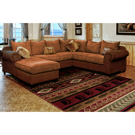 United Weavers Yalor Huntsman Trail Lodge Brown Polypropylene Area Rug or (Wolverine Trail Runner)