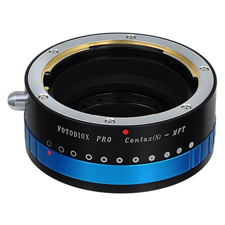 Fotodiox Pro Lens Mount Adapter - Contax N to Micro Four Thirds (MFT, M4/3) Mount Mirrorless Camera Body, with Built-In Aperture Iris (Four Thirds Mount Adapter)