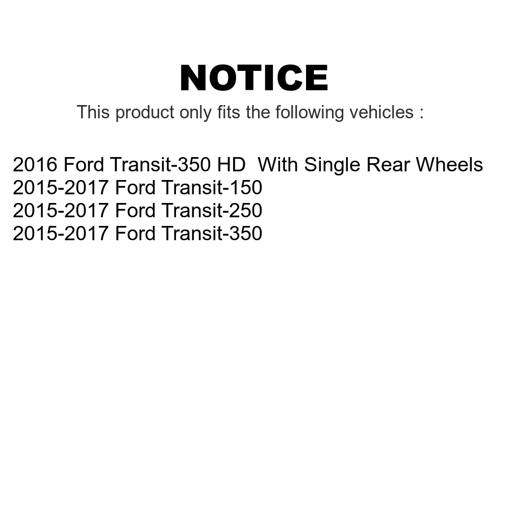 Front Rear Coat Disc Brake Rotors Semi-Metallic Pad Ford Transit-250 Transit-350