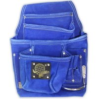 """13"""" X 9.5"""" Tool Bag With 10 Pockets In Blue Suede With Tool Holders"""