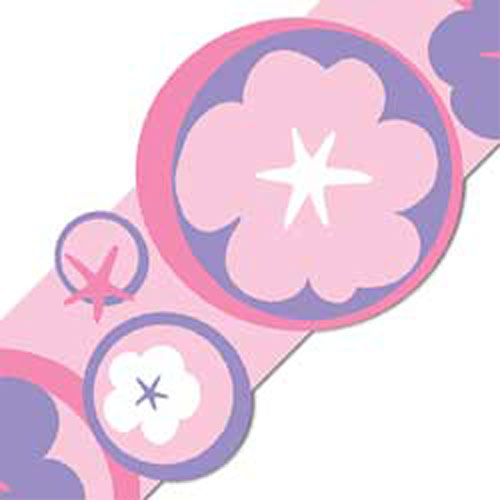 Hoolpa Flowers-Circles Self Stick Wall Border Stripe Accent