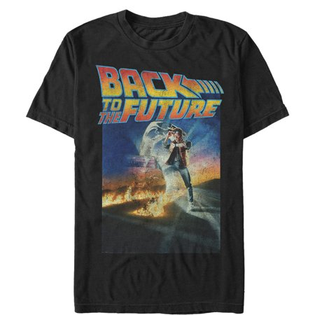 Back to the Future Men's Retro Marty McFly Poster T-Shirt - Marty Mcfly Clothes