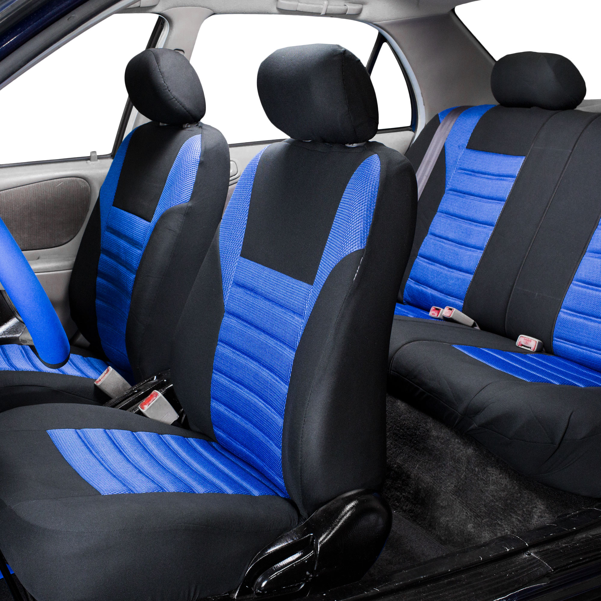 FH Group Premium Air Mesh Seat Covers for Auto Car SUV Van, Full Set, 11 Colors