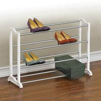 Lynk® 20 Pair Shoe Rack - 4 Tier - Shoe Shelf Organizer - White