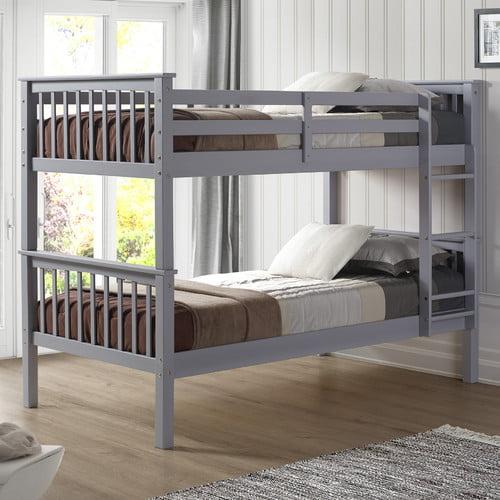 Harriet Bee Speck Twin over Twin Bunk Bed