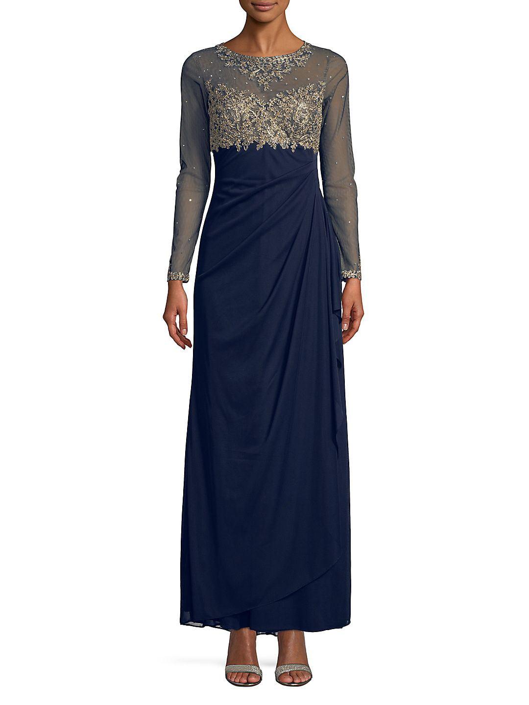 Embellished Floor-Length Gown