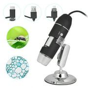 USB Digital Zoom Microscope Magnifier with OTG Function 8-LED Light Magnifying Glass 1600X Magnification with Stand