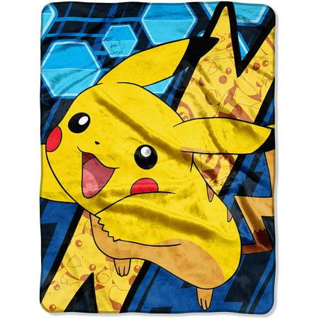 pokemon shocking pika 46 x 60 micro raschel throw walmart com