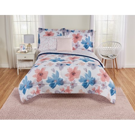 Your Zone Watercolor Bed in a Bag Bedding Set with Decorative (Best Mi-zone Your Zone In Beds)