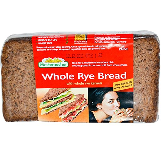 Mestemacher, Whole Rye Bread, 17.6 oz pack of 2 by