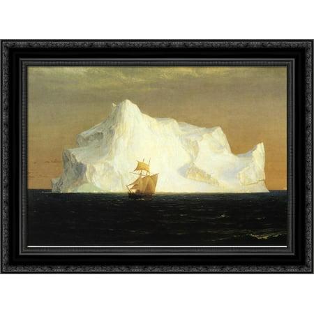 The Iceberg 24x19 Black Ornate Wood Framed Canvas Art by Church, Frederic Edwin