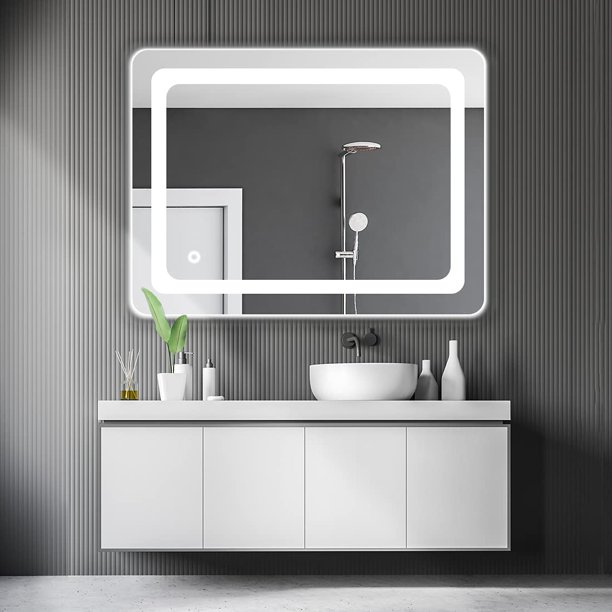 Cozy Castle Bathroom Mirror With Led, Silhouette Led Vanity Mirror Reviews