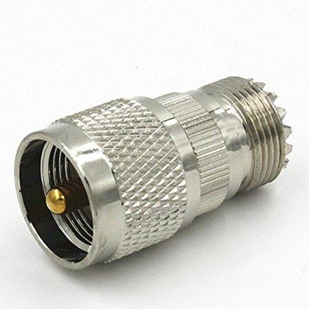 UHF PL-259 male Plug to UHF SO239 female Jack RF adapter Quick USA Shipping