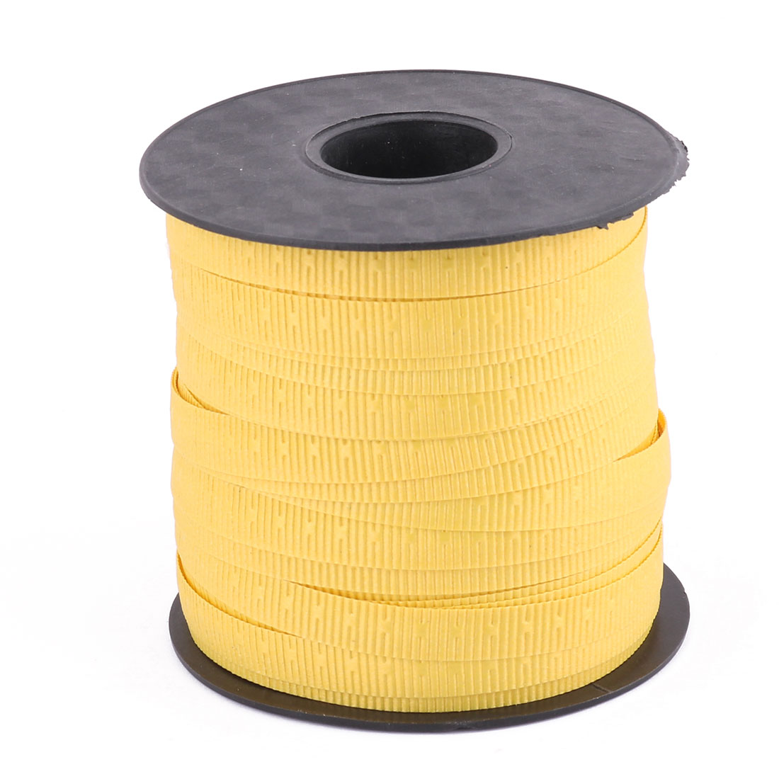 Unique Bargains Home Polyester Gift Packing String Balloon Tied Rope Ribbon Roll Yellow 75 Yards