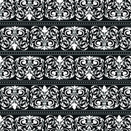 Sophisticated Formal Affair Gift Wrap with Hang Tab A Damask Design That Works for Any Occasion, 5 x 30',