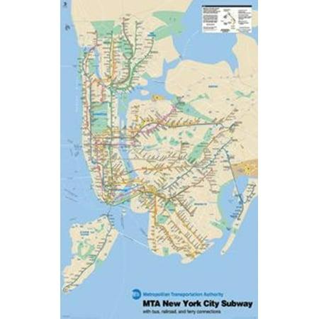 Subway Map New York For Print.New York Subway Map Poster Print 24 X 36