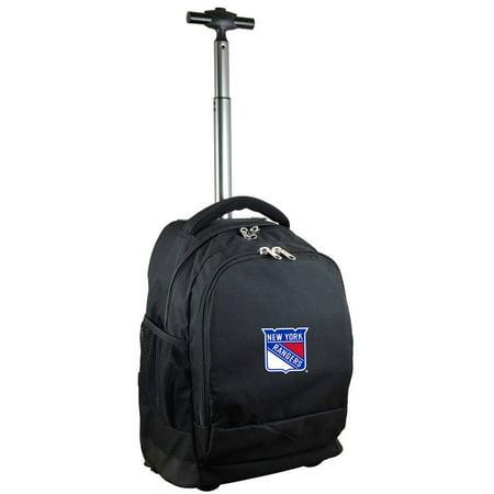 NHL Mojo New York Rangers Wheeled Backpack - Black
