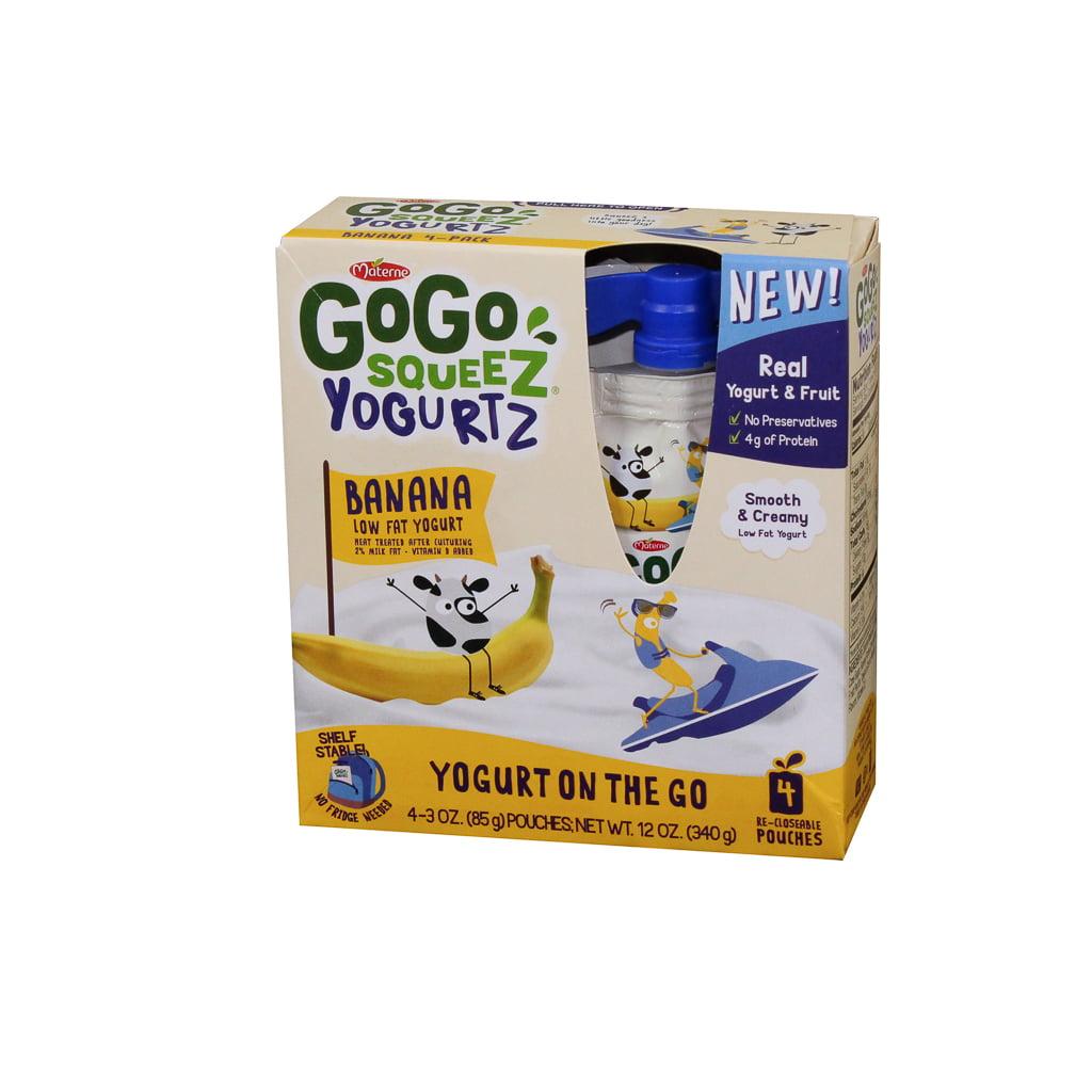 Materne Gogo Squeez Yogurtz Banana 12/4Pk, 12 OUNCE (12 Pack)