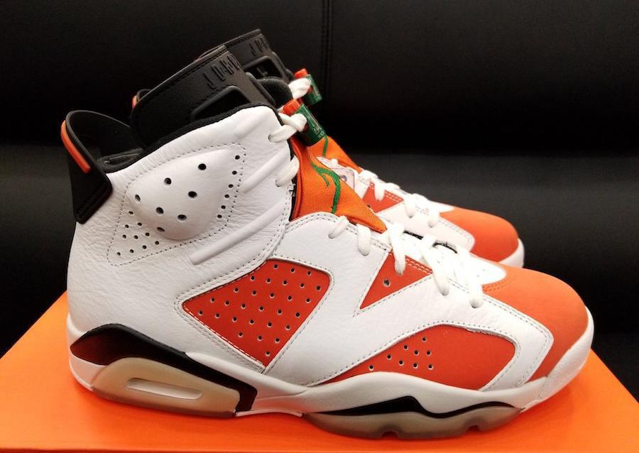 Mens Air Jordan Retro 6 VI Like Mike Gatorade Summit White Black Team by Jordan