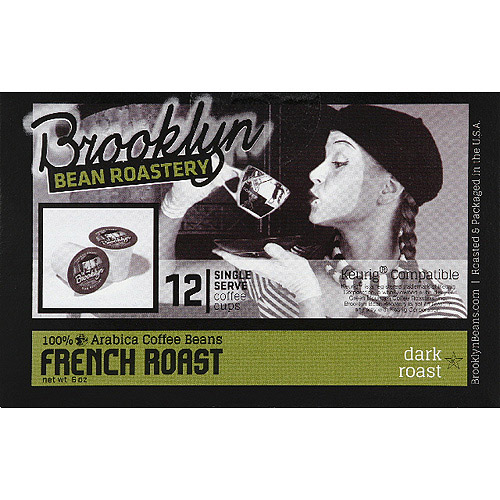 Brooklyn Bean Roastery French Roast Coffee K-Cups, 12 count, (Pack of 6)