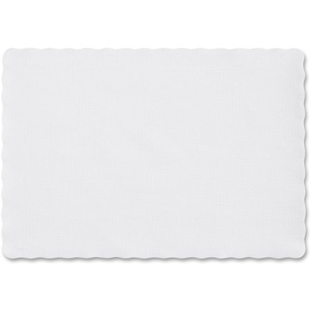 Hoffmaster, HFMPM32052, Scalloped Edge Placemats, 1000 / Carton, White