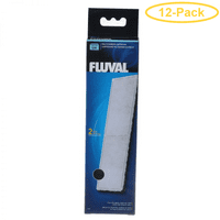 Fluval Underwater Filter Stage 2 Polyester/Carbon Cartridges U4 Filter Cartridge (2 Pack) - Pack of 12